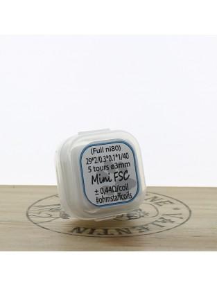 Mini fsc ni80 29x2/0.3x01x1/40 5T 3mm - Ohm Staff Coils